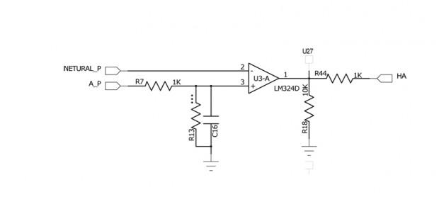 그림3-2. Back- EMF 검출용 비교기 회로