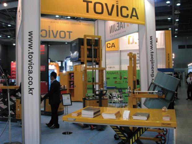 소형운반기계 전문브랜드 TOVICA, 핸디형 소형운반기계들이 눈길을 끌었다.