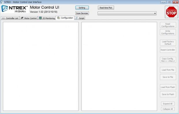 Motor Control UI Program